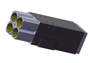 ミサイルポッド(SolidWorks画面キャプチャ)